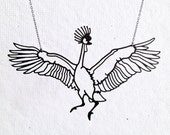 West African Crowned Crane Necklace