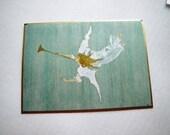 Glad Tidings Jackie Kennedy Painting Christmas Card - Unused - Frameable