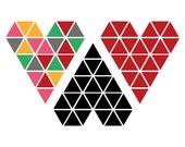 geometric hearts - tijdelijke tattoo
