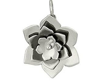 Sterling Silver Riveted Flower Pendant