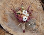 SHABBY and RUSTIC Wedding Boutonniere - Perfect for your Country Wedding