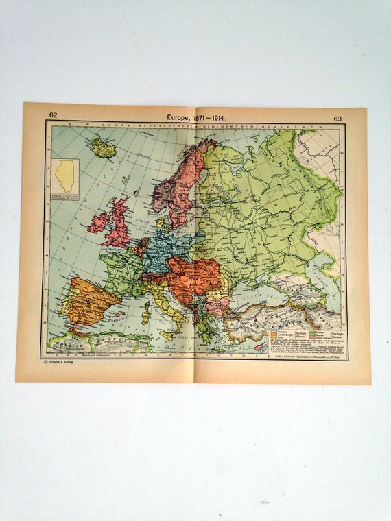 Double Sided Medieval Map - Europe and its expansion- Ottoman Empire