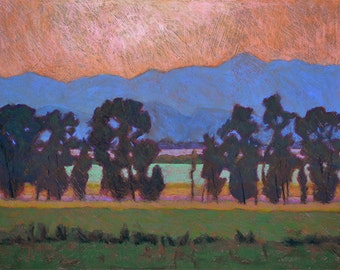 """Pastel Landscape """"Boys of Summer"""" Limited Edition Giclee Print"""