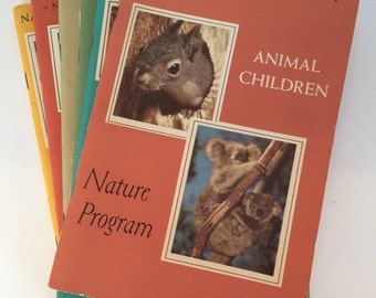 Vintage Books - Nature Program Books from National Audubon Society  1950's and 1960's