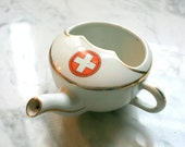 German Porcelain Red Cross Invalid Feeder Infirmary Clinic Medical