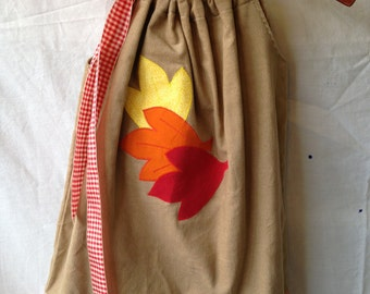 Autumn Leaves Pillowcase Dress - Girls sizes 3-6