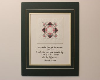 "11"" x 14"" matted PaperQuilt"