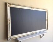 "Champagne CHALKBOARD Large 30""x54"" MAGNETIC Large Wedding Seating Chart Menu Tall Narrow Long Huge Dining Room Chalk Board Silver Gold"