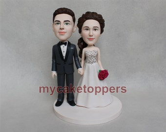 custom wedding cake topper hand in hand ON SALE