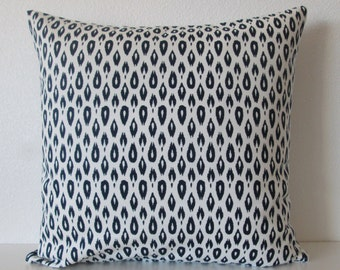 Nate Berkus Indre Lynwood Navy decorative designer pillow cover