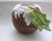 Crochet Pattern - Christmas pudding Apple or Chocolate Orange Cozy - instant digital download
