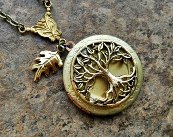 Tree of Life Brass Locket by Enchanted Lockets