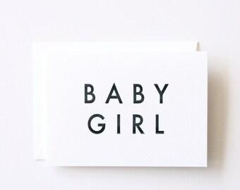 Baby Girl - Letterpress Printed Greeting Card