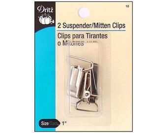 Dritz Suspender and Mitten Clips Nickel