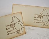 Winnie Place Cards Pooh Food Buffet Candy Bar Signs Baby Shower Birthday Time for a Smackeral of Something