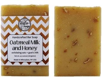 Oatmeal Milk and Honey Bar Soap - Goat Milk Soap