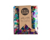 Metallic Rainbow Party Confetti / Single Serving Size
