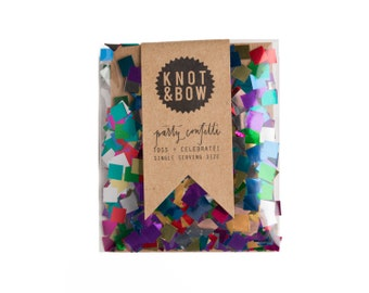 Metallic Rainbow Party Confetti / Single Serving Size