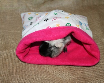Medium Large designer look hot pink pouch for small pets.