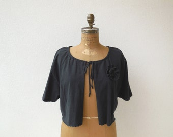 Women's T Shirt Shrug Womens Cardigan Girls Cardigan L - XL Short Sleeve Ecofriendly Clothing Cotton Top Womens Fashion Fall Autumn ohzie