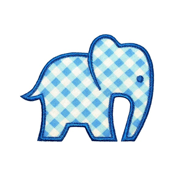 "Baby Elephant Appliques Machine Embroidery Designs Applique Pattern in 4 sizes 4"", 5"", 6"" and 7"""
