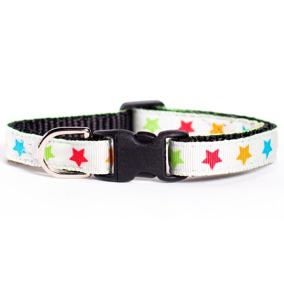 "Cat Collar - ""The Headliner"" - Multi-Colored Stars"