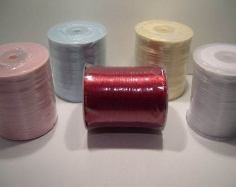 "Satin Ribbon Size 1/8"", 500 Yards for gift wrapping, craft projects, party favors and more"