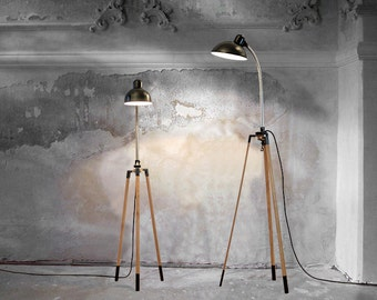 TripoD // lamp stand, oak, black, WITHOUT clip lamp