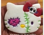 Inspired Zombie Hello Kitty Resin - 1 pc. Made to Order.