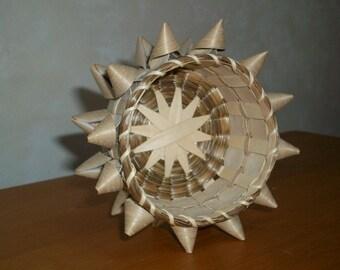 DIGITAL PATTERN Porcupine Ash and Sweetgrass Basket Ornament, Pincushion, Star Bottom