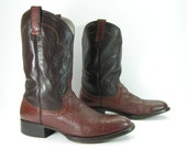 vintage cowboy boots mens 10.5 D brown cowtown leather western ropers