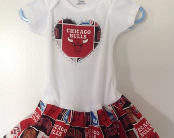 Chicago Bulls Inspired Infant Dress