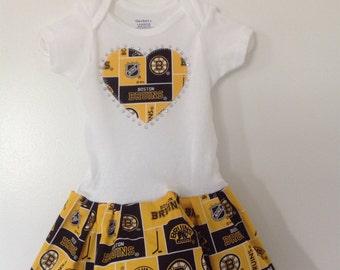 5ea65f89a ... Boston Bruins Inspired Infant Dress ...