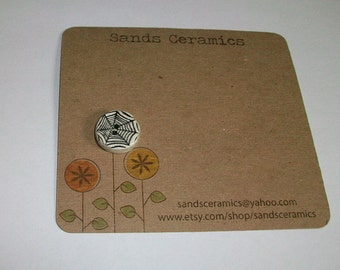 Ceramic Designer Spiderweb Button focal small