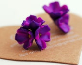 Lilac studs | Flower earrings| Flower studs| Purple lilac post earrings accessories