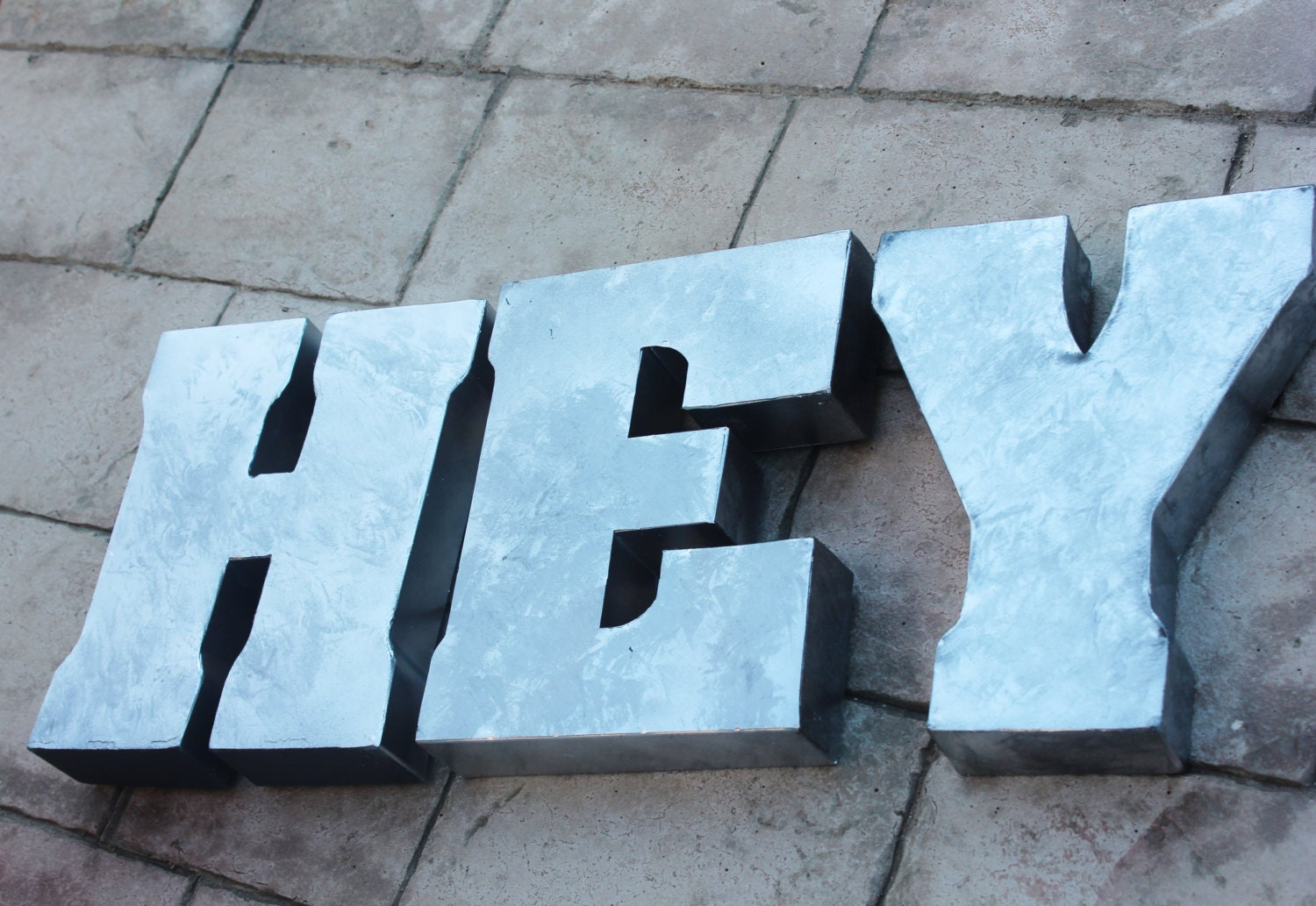 large metal letters 3 large metal letter zinc steel initial home room decor 1349