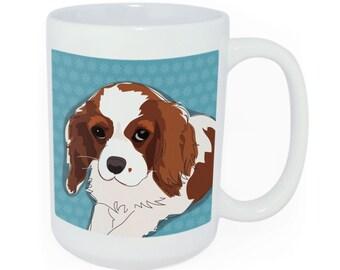 Cavalier King Charles Spaniel Ceramic Coffee Mug - Time to Walk the Dog Coffee Mug - Funny Coffee Mugs