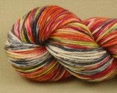 Hand Dyed Yarn - Multicolor Madness - Worsted Weight Yarn - 100% Superwash Merino Wool Yarn