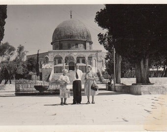 Vintage Black & White Photograph Salomon Temple Jerusalem