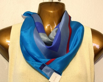 Vintage Silk Scarf Geometric Abstract Signed Echo New with Tag