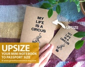 Funny Notebook Upsize - My Life is a Circus - Elephant Juggling Ball A6 Journal - Your Pocket Drama Book