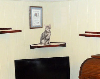 Cat Shelf  Cat Shelve Cat Climbing Shelve Wooden Floating Cat Perch Cat Furniture. Built Strong With Solid Wood.