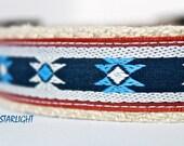 Southwest Dog Collar, Aztec Dog Collar, Star Dog Collar, Adjustable Dog Collar, Western Dog Collar, Blue Dog Collar, Boy Dog Collar