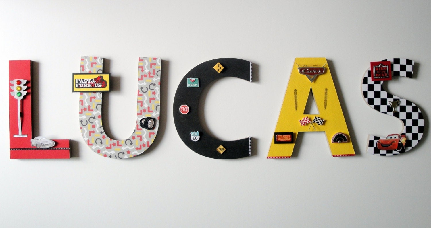 Disney Cars Wall Letters 8 3d Custom Wall Letters