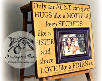 aunt gift for aunt aunt frame only an aunt personalized picture frame 16x16 the sugared plums