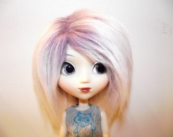 Soft purple frosted faux fur wig hair for Pullip/Taeyang