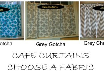 Cafe Curtains You Choose Your Fabric 25 x 24
