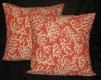 COSTAL COLLECTION Costal corail Indoor Outdoor Beach House coussin coussin-Articles ménagers-home décor