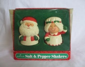 1980's Hallmark Mr. & Mrs. Claus Salt and Pepper Shakers
