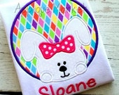 Easter Bunny Applique Shirt - Machine Appliqué - Personalized Embroidery